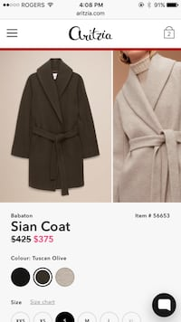 b45fb9404ebaf Used Women s aritzia Babaton Tuscan olive sian wool trench coat size xxs.  BRAND NEW NEVER WORN for sale in Coquitlam - letgo