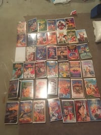 Lots of Disney movies VHS