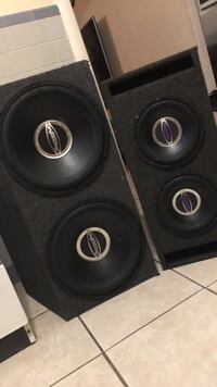 two black and gray subwoofer speakers Metairie, 70005
