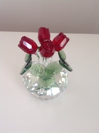 Flowers crystal figurine / new in box