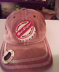Brown RED STRIPE cap with BOTTLE OPENER Columbia, 65201