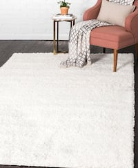 White Rectangle Rug (4'x6') Bowie, 20715