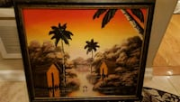 brown wooden framed painting of trees Toronto, M2M 1P7