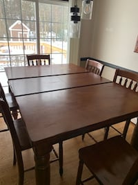 7 Piece Dining Room Table with Buffet Woodbridge