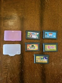 5 Gameboy advanced games with 2 cases Stephens City, 22655