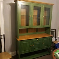 brown wooden cabinet with hutch Lawrence, 01841