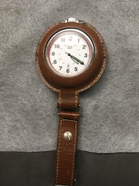 Swiss Army pocket watch with brown leather case  Louisville, 40258