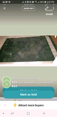 black and white area rug screenshot Vancouver, V5X 1N4