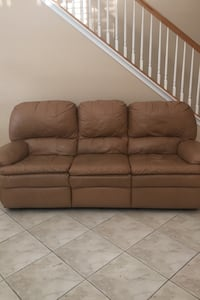 Double recliner couch.