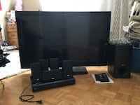 black flat screen TV with remote Toronto, M3N 1M4