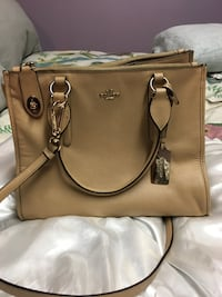 Brown coach two way handbag Edmonton, T5T 5A8