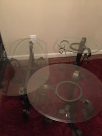 Glass coffee table and two end tables Norman, 73072