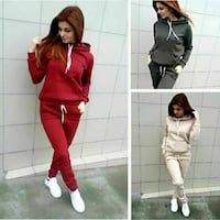 women's red, black, and beige track suit collage Boone, 50036