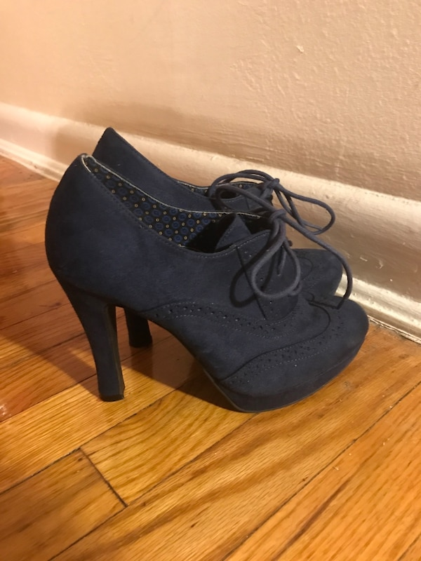 Blue Heels with Laces