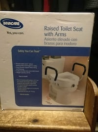 Raised toilet seat with arms Toronto, M4L 3B4