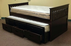 Awesome Solid Wood Twin Benny Bed With Trundle and