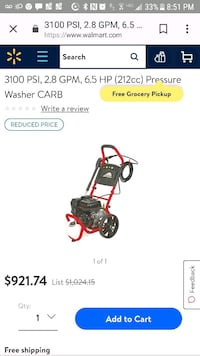 Brand New never used 3100 PSI power washer Mastic, 11950