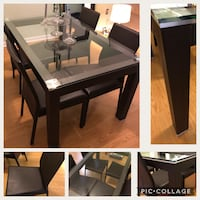 rectangular black wooden dining table 37 km