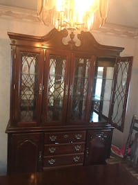 Dining Room Set - table with 2 inserts, 6 chairs, china cabinet (2 pieces) and corner cabinet Cinnaminson, 08077