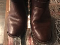 Frye Paige Loop Brown Leather Pull On Boots Denver, 80224