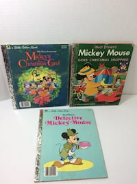 (3) Vintage Mickey Mouse Little Golden Books (1) 1st Edition Incl (2) Christmas Granger