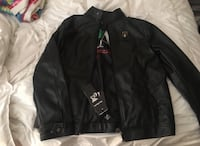 black leather full zip jacket Manteca, 95336