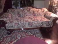 white and pink floral fabric 3-seat sofa Morristown, 37814
