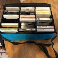 Variety of tape cassettes in case Castle Shannon, 15234