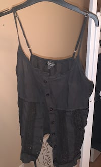 Ladies black top with some lace very pretty size Small $10 OBO Vaughan, L4H