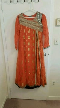 women's red and brown long sleeve dress Oakville, L6M 3E9