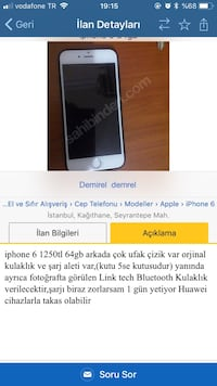 Iphone 6 64Gb Kağıthane, 34415