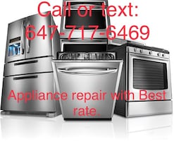 Appliance Repair-washer,dryer,refrigerator,oven and stove, dishwasher