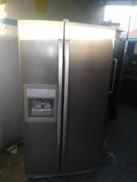 gray side-by-side refrigerator with dispenser Los Angeles, 90001