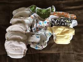 Newborn to 6 months cloth diapers