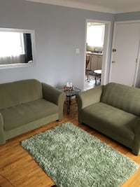 Two Piece Green/Grey Couch + Carpet! Ottawa, K1L