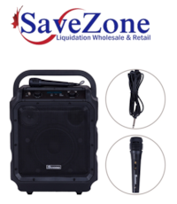 """New- Suono Portable 8"""" PA System Rechargeable Battery 300W RMS Power Active Speaker"""