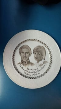 Staffordshire Hand Engraved Plate Centreville