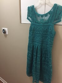 Women's anthropologie teal dress size 8