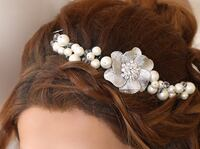 Handmade headpiece great for side or up the hair shiny & sparkly Markham, L3T