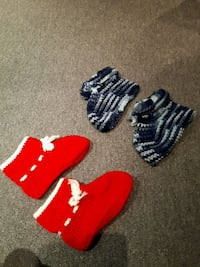 three pairs of red and white socks Thorold, L2V 4W7