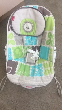 white, grey and green Fisher-Price bouncer seat Virginia Beach, 23464