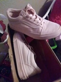 white Vans low-top sneakers with box Manteca, 95336