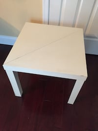 White IKEA end table triangles / square side table Alexandria, 22312