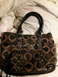 Brown and black Coach Tote Port Neches, 77651