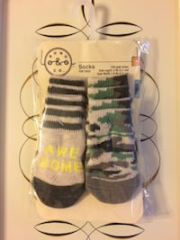 Brand-New Package of Two Sets of Dog Socks