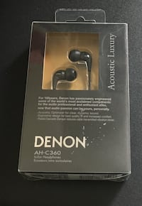 DENON headphone earbuds NEW
