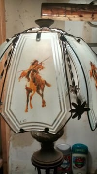 ∆Antique∆Nickel & Glass touch-lamp shade.