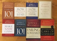 Eight john c maxwell book collection
