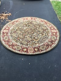 round brown and white floral area rug Centreville, 20120