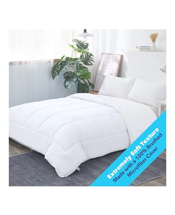 Queen soft comforter quilter all season white color  4772ef71-3c5e-45cf-9672-3f1ffbd0aa25